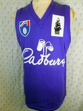 Super Rare 90s Knitted Purple AFL Cadbury Mark Of The Year Footy Guernsey Jersey