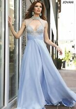 Jovani Prom Dress Party Evening Long Formal  Cocktail Sexy Color Blue Size 16