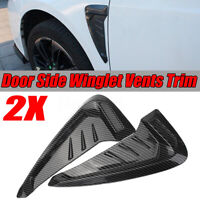 Carbon Fiber Look Side Marker Fender Air wing Vent Trim M Cover For BMW   !*