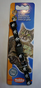 Reflective Safety Cat Collar Skull & Crossbones with/Engraved without