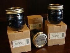 Lot of 3 Longaberger Blue Ribbon Berry Blueberry Jar Candle in Canning Jar w Box