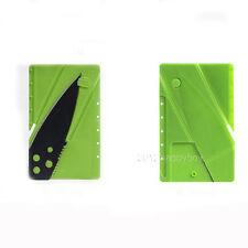 Green Pratical Outdoor Credit Card Knife Folder Pocket Wallet Knife Safety Tool