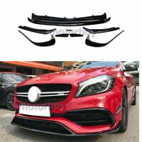 For Mercedes Benz A Class W176 facelift Front Lip bumper Splitters 8 PCs 2016_18