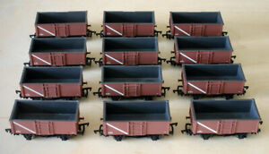 12 BACHMANN 16 TON COAL MINERAL WAGONS BR BAUXITE GOOD CONDITION