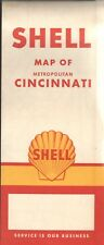 1961 Shell Road Map: Metropolitan Cincinnati NOS