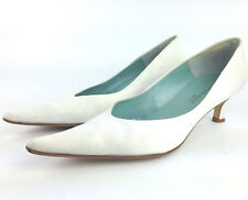 616b99fed16 euc Cole Haan Womens 8.5 'Wedlock' White Satin Slip On Low Kitten Heel Pumps