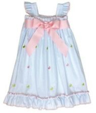 New NWT Toddler Girl Pink no Smocked Easter Dress Bunnies Size 4T cukees