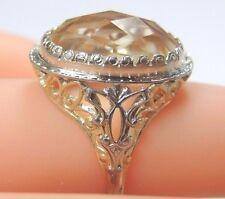 Antique Vintage Estate Citrine Ring 14K Gold Ring Size 5 UK-J1/2 Engagement Fine