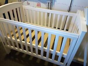 Boori Country Collection White cot & matching chest of drawers with change table