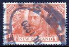 NEW ZEALAND — SCOTT 170 (SG 458) — 1920 1/- KGV PEACE ISSUE — USED — SCV $55