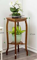 BAMBOO WOODEN PLANT STAND SHELF LADDER STORAGE ANTIQUE STYLE VINTAGE MULTI USE