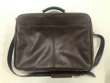 Coach Briefcase Laptop Brown Chocolate Leather Bag No - H8S - 0561