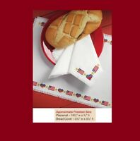 PATRIOTIC PLACEMAT & BREAD COVER  -  CROSS STITCH PATTERN ONLY  HM - SYU