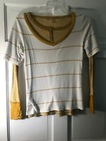 Mustard Double Striped 2T-shirts Tiny & Wide Stripes Pre O Cotton Cute