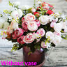 Artificial Silk Flowers Tea Rose Peony Small Bouquet Home Party Wedding Flower