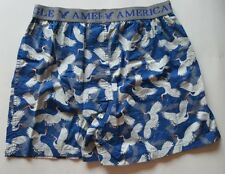 """MENS AMERICAN EAGLE OUTFITTERS """"STORK"""" BOXER SHORTS 100% COTTON SIZE M 32-34"""