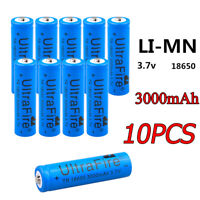 10x 18650 3.7V 3000mAh Li-ion Rechargeable Battery Cell For LED Torch Flashlight