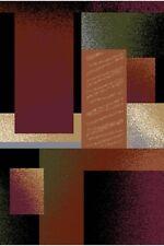 Abstract Modern Black Carpet 6x8 Contemporary Area Rug - Actual 5' 2'' x 7' 4''
