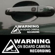 Warning On Board Camera Recording Car Auto Window Truck Vinyl Sticker Decor Gift