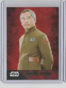Star Wars The Force Awakens Series 1 Trading Card Green Admiral Statura #27