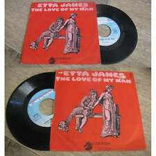 ETTA JAMES - The Love Of My Man Rare French PS 7' Chess Soul Blues 1971