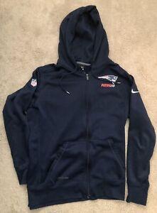New England Patriots Nike Dri-Fit Hoodie Jacket Team Issued Onfield Apparel LG
