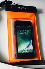 waterproof mobile cover pouch for sailing, swimming,dry Case Bag M A Z A, Orange