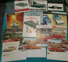 Huge Lot Vintage All Ford Sales Brochure & 1 Manual 1940's - 1960's - Truck Car