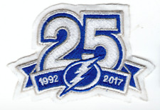 """TAMPA BAY LIGHTNING PATCH 25TH ANNIVERSARY 1992-2017 PUCK STYLE 3.5"""" STAMKOS"""