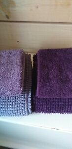 Bath mat set x 2 lightly used,  2 mats, 2 hand towels, Dunelm