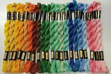21 Dmc #5 Coton Perle Embroidery Floss all Different 21 Skeins Nos Cotton A