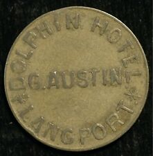Pub Check Token Dolphin Hotel Langport Dorset G Austin 3d by Seage Exeter (T112)