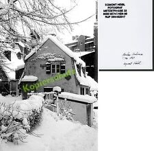orig. Foto München Haidhausen Kreppe alte Häuser Herberge Winter Tiefschnee 1969