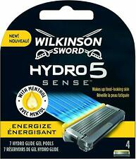 5 Wilkinson Sword Hydro 5 Sense Energize Mens Razor Blades 4 + 1 Free