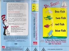 DR SEUSS ONE FISH TWO FISH  VHS PAL VIDEO A RARE FND