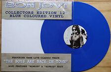 "EX/EX! BON JOVI ALWAYS 12"" BLUE VINYL COLLECTOR'S LIMITED EDITION PICTURE DISC"