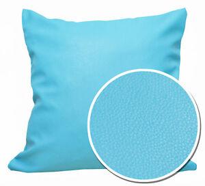 Pb315a Light Blue Faux Leather Skin PU Cushion Cover/Pillow Case *Custom Size*
