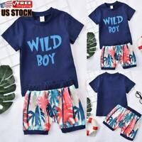 Toddler Baby Girls Leopard Print Summer Clothes Set T-Shirt and Short Pants 2pcs Outfits