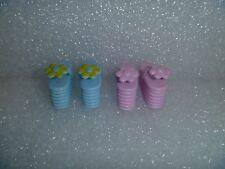 Barbie Shoes - Actually 2 Pair of Skipper Flower Top Platform Flip Flops