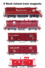 Rock Island Maroon-Era Freight Train 5 magnets Andy Fletcher