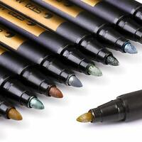 Dyvicl Metallic Markers Paint Marker Pens - Medium Point Metallic Permanent Mark