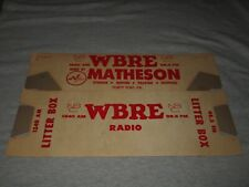 WBRE-MATHESON MOVING-FORTY, FORT, PA-1960s ERA UNUSED CARDBOARD LITTER BOX