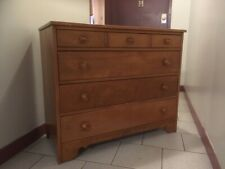 Ethan Allen 1950's solid Hard rock maple wood dresser four drawer $275