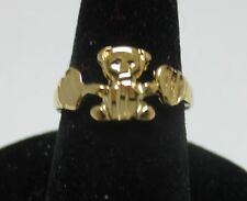 SIZE 2 14KT GOLD EP TEDDY BEAR, BABY,TOE, PINKIE, PROMISE RING