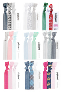 PopBand Pop Band Essentials Ponytail Holders Hair Bands 3 Pack Various Colours