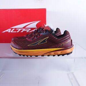Size 11 Men's Altra Timp 2 Trail Running Shoes AL0A4PE9609 Dark Red/Orange