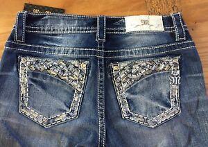 MISS ME Juniors Size 26 Mid Rise Capri CROP Denim Jeans NWT NEW!