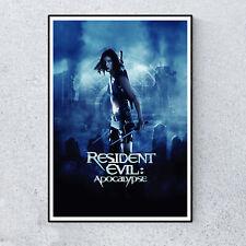 Resident Evil Apocalypse Horror Zombie Film Movie Glossy Print Wall A4 Poster