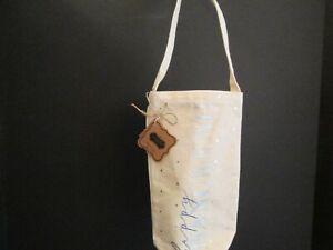 """Happy Hanukkah"" Canvas Wine Bag by Mud Pie, NWT"