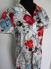 CAROLINA HERRERA Red White Blue Floral Cotton Full Button Down Front Sz Unknown